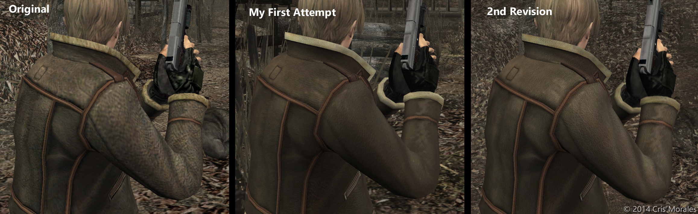 Leon's Hair, Redoing the Jacket, and Other Clothes | Resident Evil 4
